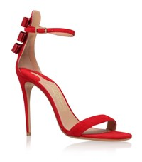 Salvatore Ferragamo Angie Barely There Bow Back Sandal Female Red