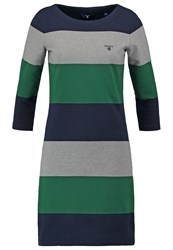 Gant Jersey Dress Grey Melange