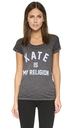 Eleven Paris Kate Is My Religion Tee Burn Out Jersey Black