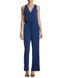 Philosophy Wrap Front Sleeveless Jumpsuit Structured Navy
