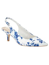 Phase Eight Flower Print Sling Back Kitten Heels Multi Coloured