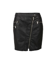 Morgan Biker Style Mini Skirt Black
