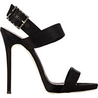 Giuseppe Zanotti Jeweled Buckle Double Band Sandals Nero