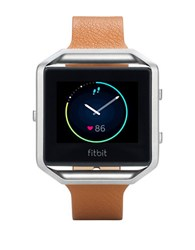 Fitbit Blaze Fb159lbscml Large Leather Accessory Band Light Brown