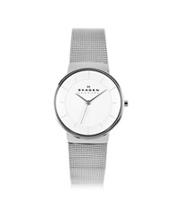 Skagen Nicoline Stainless Steel Mesh Women's Watch Silver