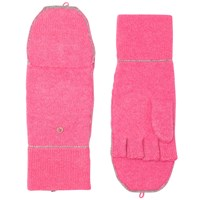 White Warren Cashmere Double Face Pop Top Gloves Pink