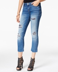 Guess Ripped Cropped Skinny Jeans Moccasin Wash