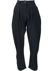Isabel Benenato Harem Trousers Black