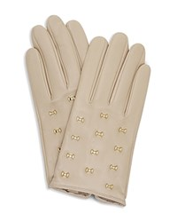 Ted Baker Ailara Bow Leather Gloves Camel