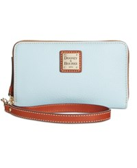 Dooney And Bourke Zip Around Carryall Wristlet Pale Blue