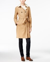 Tommy Hilfiger Kate Faux Sherpa Trench Coat Only At Macy's Warm Khaki Heather
