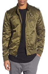 Men's Members Only 'Iconic' Water Resistant Racer Jacket Olive