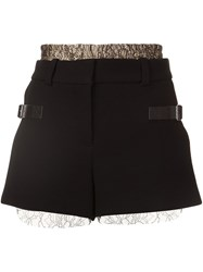 Vera Wang Lace Layer Shorts Black