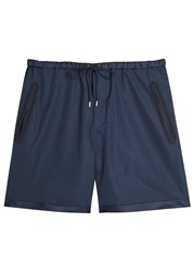 Gucci Navy Faille Trimmed Cotton Shorts