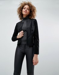 Only Hope Kim Faux Leather Jacket Black