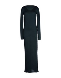 T By Alexander Wang Long Dresses Dark Green