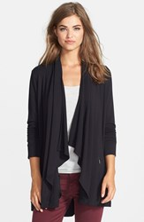 Kensie Drapey French Terry Jacket Black