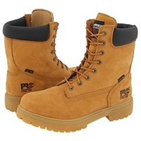 Timberland Direct Attach 8 Steel Toe Wheat Nubuck Leather Men's Work Lace Up Boots Tan