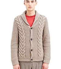 Archive Margiela Cable Knit Cardigan Beige