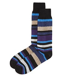 Bloomingdale's The Men's Store At Cashmere Huntington Stripe Socks Black
