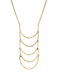 Lucky Brand Fine Ladder Pendant Necklace Gold