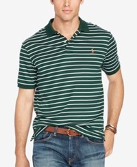 Polo Ralph Lauren Men's Big And Tall Striped Pima Soft Touch College Green White