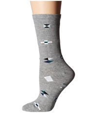 Richer Poorer Brig Heather Grey Women's Crew Cut Socks Shoes Gray
