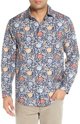 Tommy Bahama Men's 'Seaside Mosaic' Regular Fit Print Cotton And Silk Sport Shirt