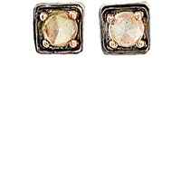 Nak Armstrong Women's Labradorite And Rose Gold Square Stud Earrings Pink