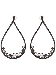 Joelle Jewellery Gothic Teardrop Diamond Earrings Black