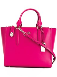 Coach Large Double Strap Tote Pink Purple