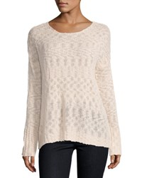 Young Fabulous And Broke Ina Lace Up Back Sweater Blush