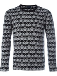 Lanvin Chevron Pattern Jumper Grey