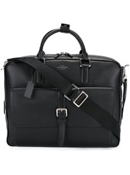 Smythson Large 'Burlington' Briefcase Black
