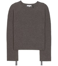 Helmut Lang Wool And Cashmere Knitted Sweater Grey
