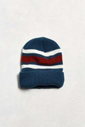 Urban Outfitters Uo Striped Beanie Blue