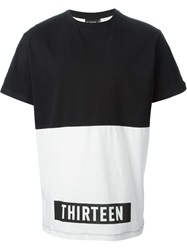 Ejxiii Panelled Printed T Shirt Black