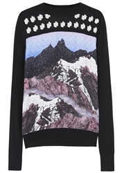 Peter Pilotto Black Printed Jaquard Silk Blend Jumper