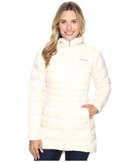 Columbia Hellfire Mid Down Hooded Jacket Chalk Women's Coat White
