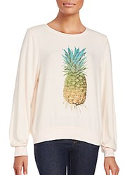 Wildfox Couture Graphic Printed Long Sleeve Pullover Chapstick