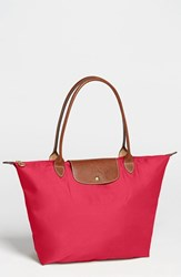 Longchamp 'Large Le Pliage' Tote Red Red Garance