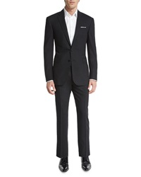 Ralph Lauren Black Label Anthony Solid Two Piece Wool Suit Charcoal