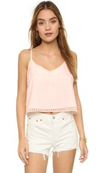 Jack By Bb Dakota Kapowski Gingham Tank Light Peach
