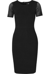Line Open Knit Stretch Jersey Dress Black