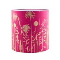 Clarissa Hulse Seed Heads Standard Lampshade Hot Pink Antique Gold