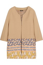 Finds Oui Odile Embroidered Cotton Blend Canvas Coat Nude