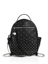Alexander Mcqueen Studded Chain Strap Leather Backpack Black