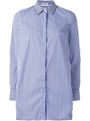 Brunello Cucinelli Striped Shirt Blue