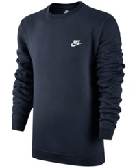 Nike Men's Crewneck Fleece Sweatshirt Obsidian