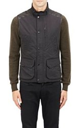 Ralph Lauren Black Label Leather Shoulder Tech Vest Black